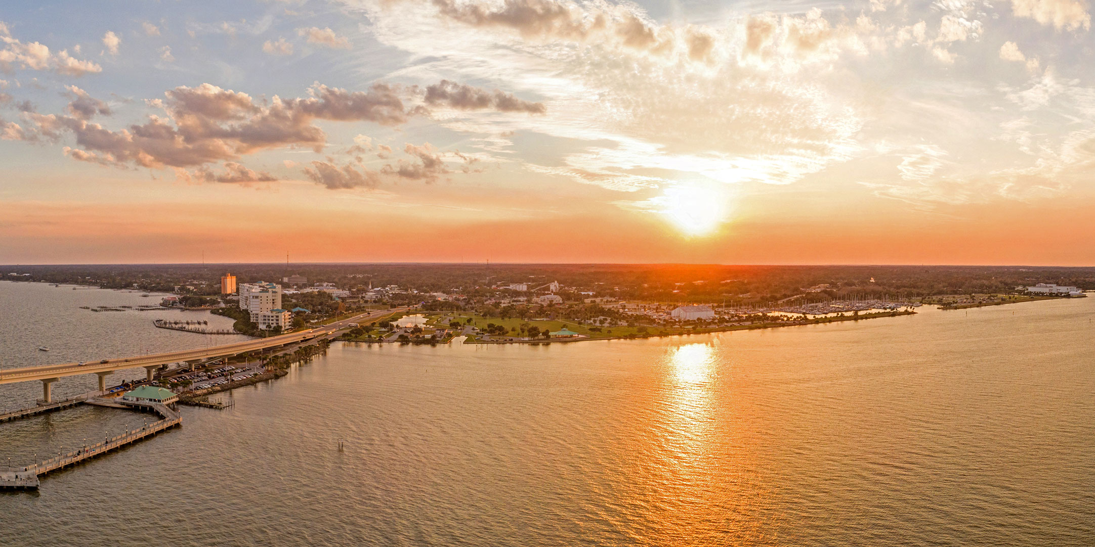 Aerial Panoramic of Titusville, Florida by Biz360Tours. All Rights Reserved